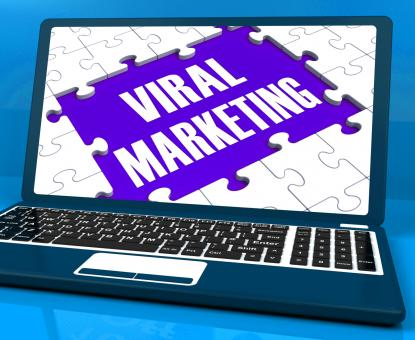 Free Stock Photo of Viral Marketing On Laptop Shows Social Media Advertisement