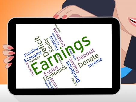 Free Stock Photo of Earnings Word Means Wage Revenues And Earns