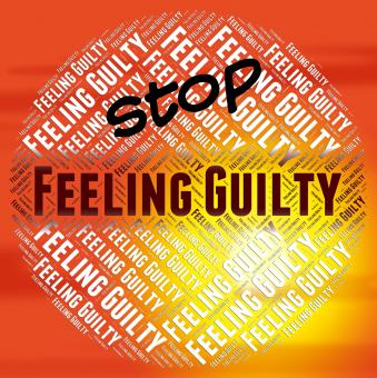 Free Stock Photo of Stop Feeling Guilty Indicates Warning Sign And Caution