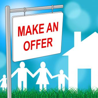 Free Stock Photo of House Offer Sign Indicates Display Offering And Housing