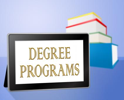 Free Stock Photo of Degree Programs Represents Books Bachelors And Internet