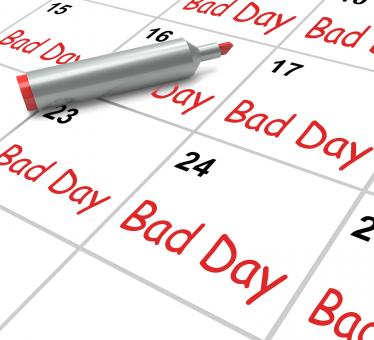Free Stock Photo of Bad Day Calendar Shows Unpleasant Or Awful Time