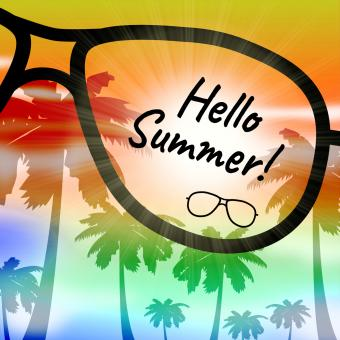 Free Stock Photo of Hello Summer Indicates At This Time And Holiday