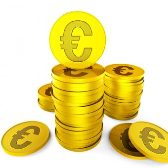 Free Stock Photo of Euro Savings Represents European Euros And Money