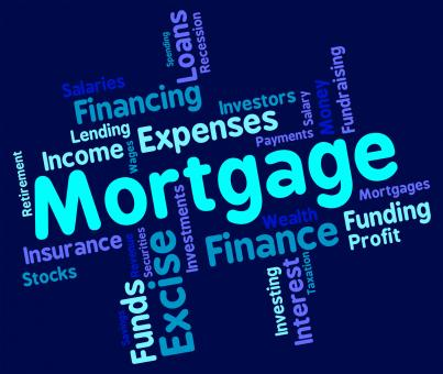 Free Stock Photo of Mortgage Word Shows Home Loan And Debt