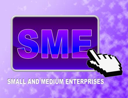 Free Stock Photo of Sme Button Indicates Web Site And Business