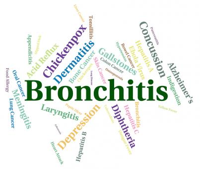 Free Stock Photo of Bronchitis Word Shows Ill Health And Ailment