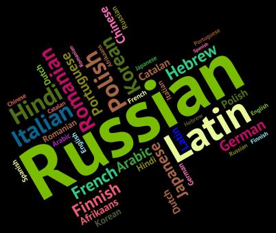 Free Stock Photo of Russian Language Means Foreign Wordcloud And Text
