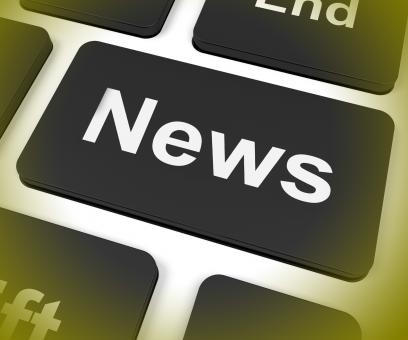 Free Stock Photo of News Key Shows Newsletter Broadcast Online