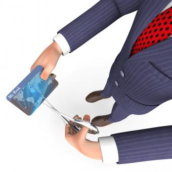 Free Stock Photo of Credit Card Indicates Business Person And Bought 3d Rendering