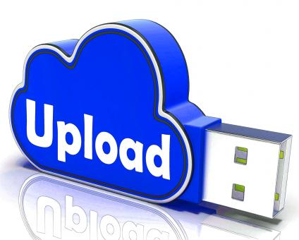 Free Stock Photo of Upload Memory Shows Uploading Files To Cloud