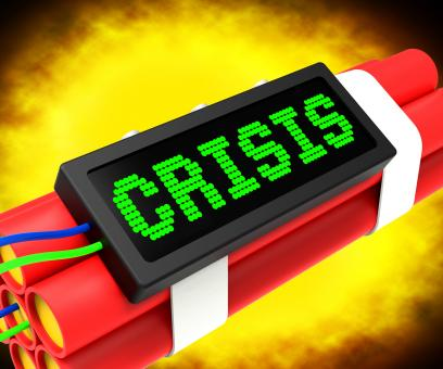 Free Stock Photo of Crisis Message On Dynamite Shows Emergency And Problems