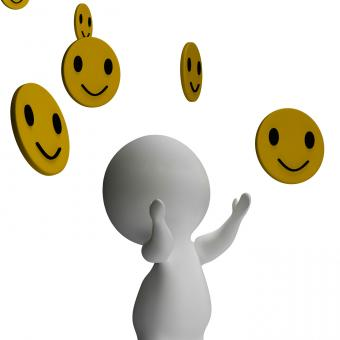 Free Stock Photo of Smileys Smiling And 3d Character Showing Happiness
