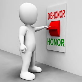 Free Stock Photo of Dishonor Honor Switch Shows Integrity And Morals