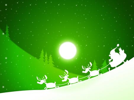 Free Stock Photo of Moon Santa Indicates Merry Xmas And Celebrate