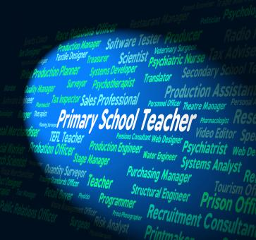 Free Stock Photo of Primary School Teacher Shows Give Lessons And Educate