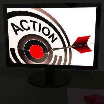 Free Stock Photo of Action On Monitor Showing Acting