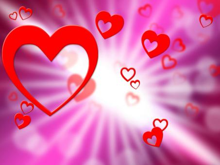 Free Stock Photo of Hearts Background Indicates Valentines Day And Affection