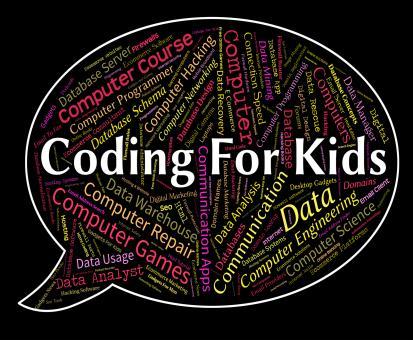 Free Stock Photo of Coding For Kids Represents Program Ciphers And Toddlers