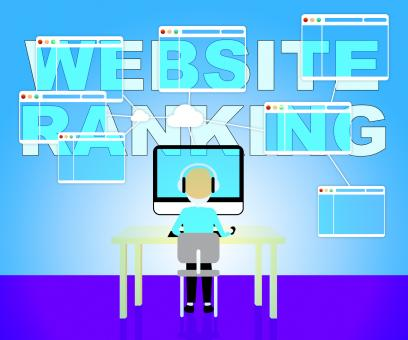 Free Stock Photo of Website Rankings Represents Search Engine 3d Illustration