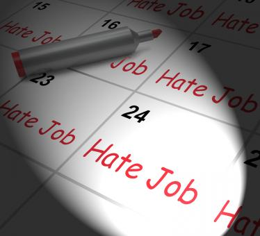 Free Stock Photo of Hate Job Calendar Displays Miserable At Work