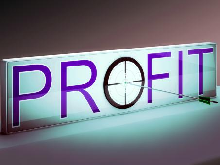 Free Stock Photo of Profit Target Shows Market And Trade Income
