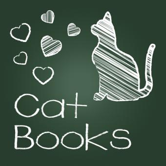 Free Stock Photo of Cat Books Means Pets Cats And Felines