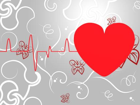 Free Stock Photo of Heart Pulse Means Empty Space And Cardiogram