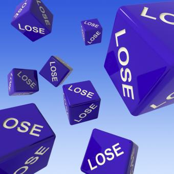 Free Stock Photo of Lose Dice Background Showing Failure