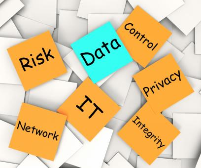 Free Stock Photo of Data Post-It Note Shows Information Privacy And Control