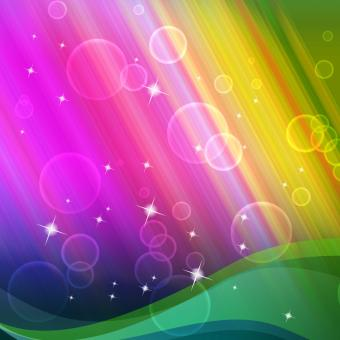 Free Stock Photo of Rainbow Bubbles Background Shows Circles And Ripples