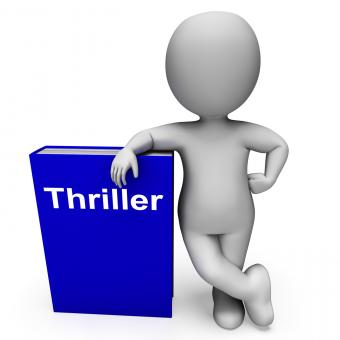 Free Stock Photo of Thriller Book And Character Shows Books About Action Adventure Mystery
