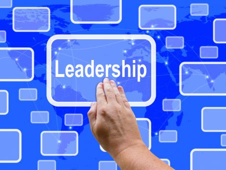Free Stock Photo of Leadership Touch Screen Shows Leader Vision Achievement