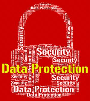 Free Stock Photo of Data Protection Represents Forbidden Secured And Wordcloud