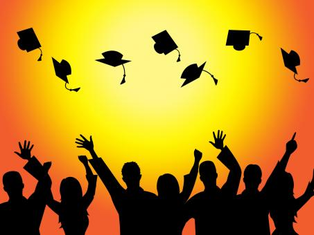 Free Stock Photo of Graduation Education Means Graduate Diploma And Train
