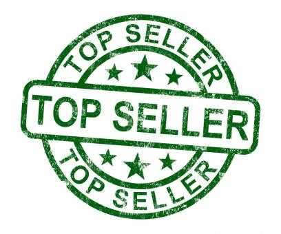 Free Stock Photo of Top Seller Stamp Shows Best Services Or Products
