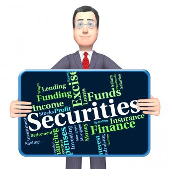 Free Stock Photo of Securities Word Indicates Financial Obligation And Bond