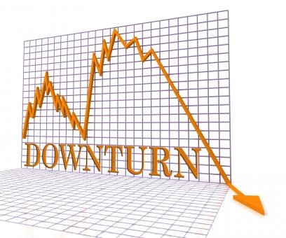 Free Stock Photo of Downturn Graph Represents Market Chart And Loss 3d Rendering