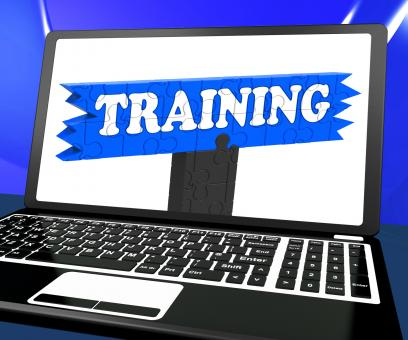 Free Stock Photo of Training On Laptop Shows Coaching