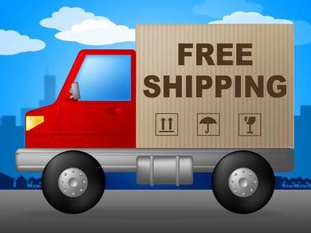 Free Stock Photo of Free Shipping Shows With Our Compliments And Deliver