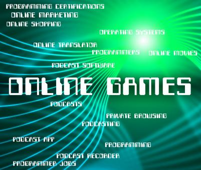 Free Stock Photo of Online Games Indicates World Wide Web And Entertainment