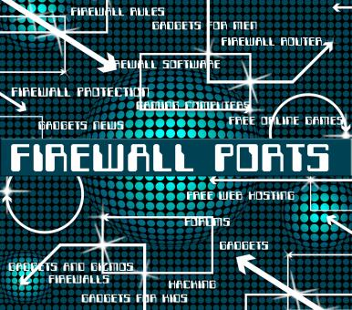Free Stock Photo of Firewall Ports Represents No Access And Defence