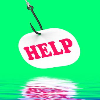 Free Stock Photo of Help On Hook Displays Customer Support Or Assistance