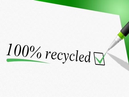 Free Stock Photo of Hundred Percent Recycled Represents Go Green And Bio