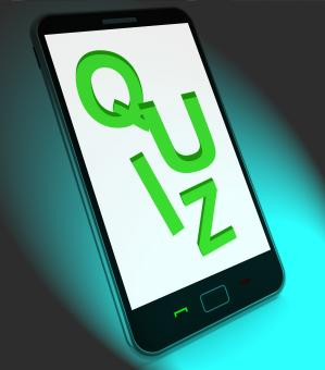 Free Stock Photo of Quiz On Mobile Means Test Quizzes Or Questions Online