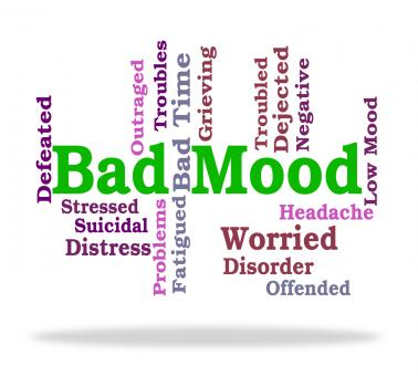 Free Stock Photo of Bad Mood Shows Somber Words And Depression