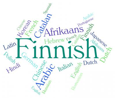 Free Stock Photo of Finnish Language Indicates Translator Finland And Wordcloud