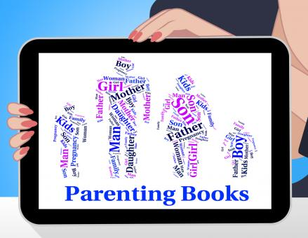 Free Stock Photo of Parenting Books Indicates Mother And Child And Father
