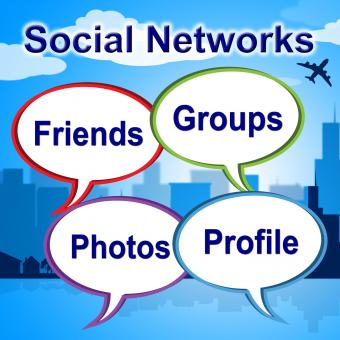 Free Stock Photo of Social Networks Words Shows Blogging Blogs And Internet