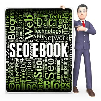Free Stock Photo of Seo Ebook Indicates Search Engines And Books